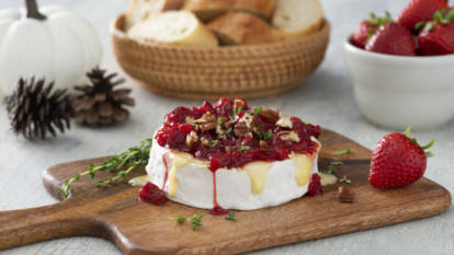 Strawberry & Pecan Baked Brie