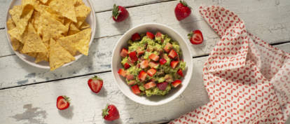 Summer Strawberry Guacamole